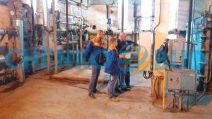 Специалисты ЧЕНКО-БУД во время Реконструкции узла введения паропроводов